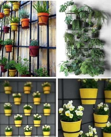 green-wall-mesh-frame-pots